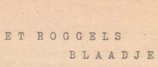 Roggels Blaadje 11 december 1954