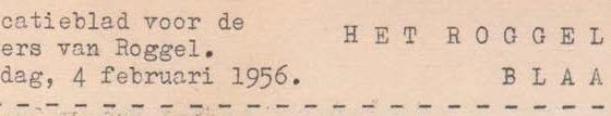 Roggelse Blaadjes februari 1956