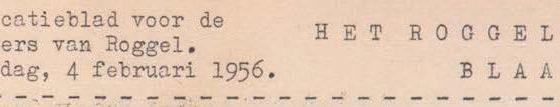 Roggels Blaadje maart 1956