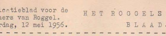 Roggels Blaadje mei 1956